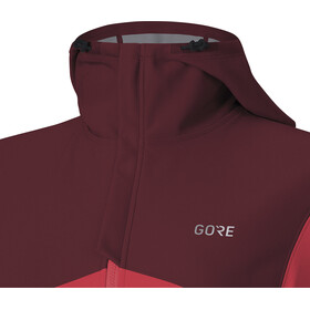 GORE WEAR R3 Windstopper Chaqueta con capucha Mujer, hibiscus pink/chestnut red